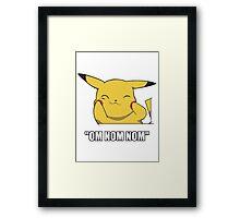 Pikachu Nom Framed Print