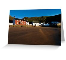 Porthdinllaen at Dawn Greeting Card