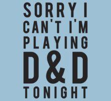 Sorry, D&D Tonight (Modern) Baby Tee