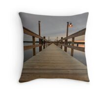 Wiscasset Pier Throw Pillow