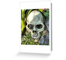 Macabre Garden Ornament Greeting Card