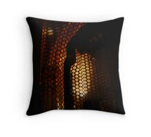 Perforated History. Throw Pillow