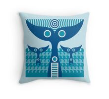 whale tails Throw Pillow