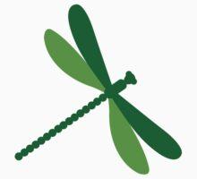 Green dragonfly Kids Tee