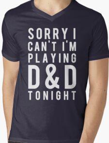 Sorry, D&D Tonight (Modern) White Mens V-Neck T-Shirt