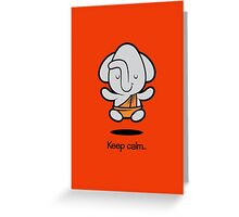 Farm Babies - Keep Calm Greeting Card