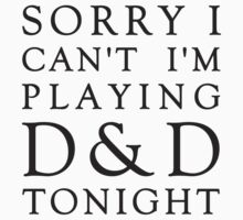 Sorry, D&D Tonight (Classic) Kids Clothes