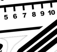 Pencil ruler paper clip eraser Sticker