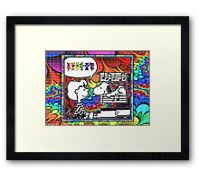 snoopy's notes Framed Print