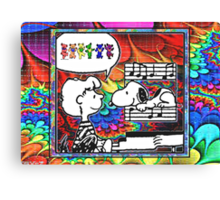 snoopy's notes Canvas Print