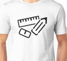 Ruler Pen Eraser Unisex T-Shirt