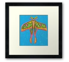 pastel moth Framed Print