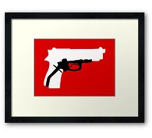 Oil Kills (white background) Framed Print