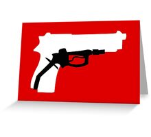 Oil Kills (white background) Greeting Card