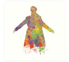 Sherlock Holmes Watercolour Splash Art Print