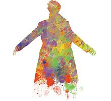 Sherlock Holmes Watercolour Splash Photographic Print