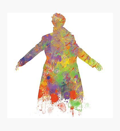 Sherlock Holmes Watercolour Splash Photographic Print