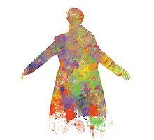 Sherlock Holmes Watercolour Splash by MYCROFTOFFICE