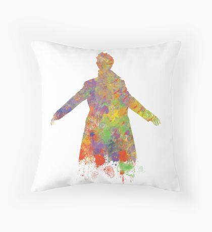 Sherlock Holmes Watercolour Splash Throw Pillow