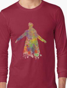 Sherlock Holmes Watercolour Splash Long Sleeve T-Shirt