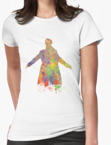 Sherlock Holmes Watercolour Splash Womens Fitted T-Shirt