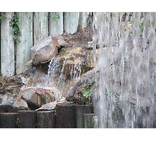 Waterfall at Disneyland Hotel Photographic Print