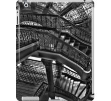 Old Style Workmanship  (Monochrome Version) - The Grand Staircase, Queen Victoria Building - The HDR Experience iPad Case/Skin