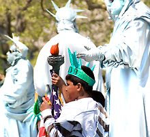 Statues of Liberty by macmichael