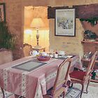 French Dining room Sarlat France by Elizabeth Thomas
