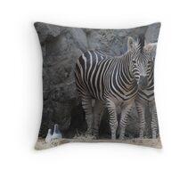 Kingdom1       (Zebras in camouflage*) Throw Pillow