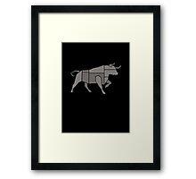 Tough Bull Framed Print