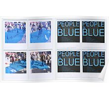 People in Blue #2 Poster