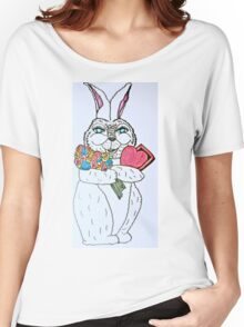 VALENTINE BUNNY LOVE Women's Relaxed Fit T-Shirt