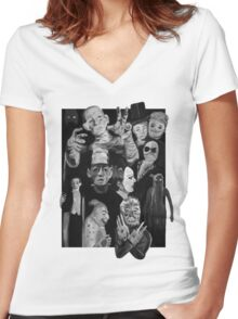 1920s - 1930s Horror Women's Fitted V-Neck T-Shirt