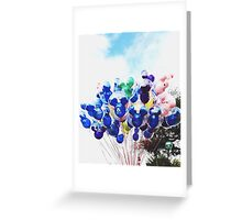 Disney Ballons  Greeting Card