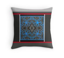 MODERN ABSTRACT, red, white, blue, black, grey, gray Throw Pillow