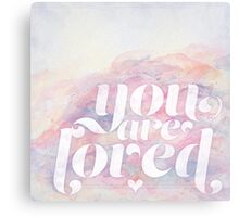 You Are Loved Pastel Watercolors Canvas Print