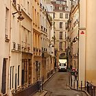 Narrow Street in Paris by Buckwhite