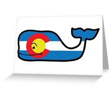 Colorado Themed Vineyard Vines Whale Greeting Card