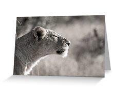 Fierce Lady Lion Greeting Card
