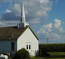 Church In The Cornfield by WildestArt
