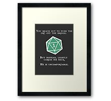 Natural 1 - Orc (White) Framed Print