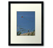 Kite over Dunes; Ocean Grove, NJ Framed Print