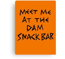 The Dam Snack Bar Canvas Print