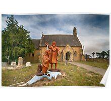 St John the Baptist Anglican Church, Buckland, Tasmania Poster
