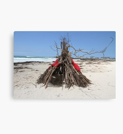 Diftwood Teepee Canvas Print