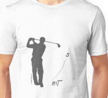 Playing golf seems to be relaxing (light shirt) Unisex T-Shirt