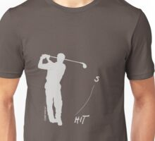 Playing golf seems to be relaxing (dark shirt) Unisex T-Shirt