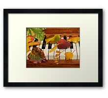 Autumn Leaves Tickle the Ivories Framed Print