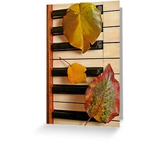 Autumn Leaf Trio on Piano Greeting Card